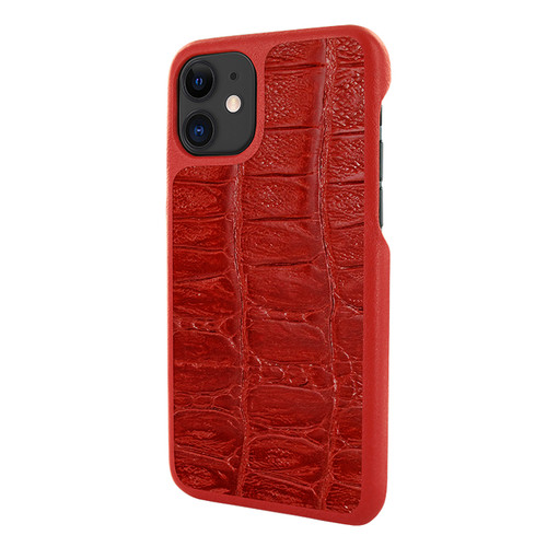 Piel Frama 838 Red Wild Crocodile LuxInlay Leather Case for Apple iPhone 11