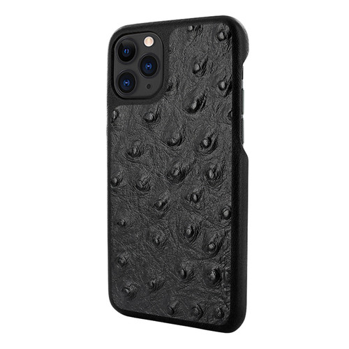 Piel Frama 835 Black Ostrich LuxInlay Leather Case for Apple iPhone 11 Pro Max