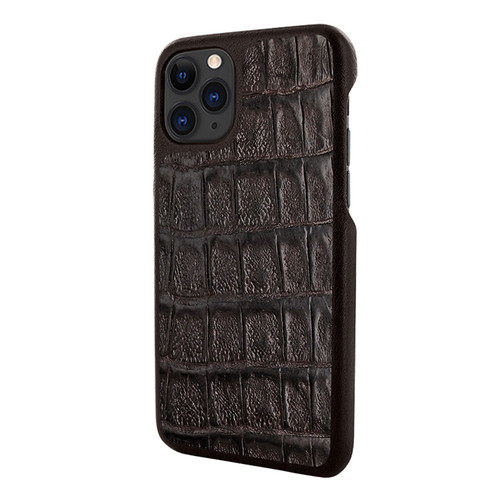 Piel Frama 835 Brown Wild Crocodile LuxInlay Leather Case for Apple iPhone 11 Pro Max