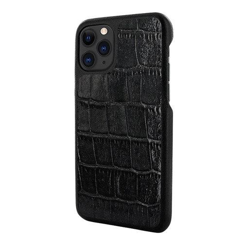 Piel Frama 832 Black Crocodile LuxInlay Leather Case for Apple iPhone 11 Pro