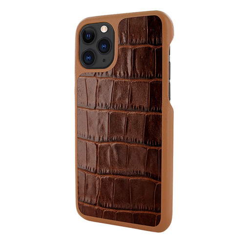 Piel Frama 832 Brown Crocodile LuxInlay Leather Case for Apple iPhone 11 Pro