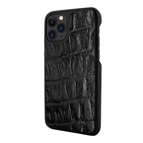 Piel Frama 832 Black Wild Crocodile LuxInlay Leather Case for Apple iPhone 11 Pro