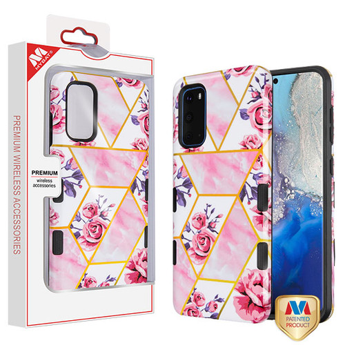 Samsung Galaxy S20 Roses Marble/Black TUFF Subs Hybrid Case (with Package)