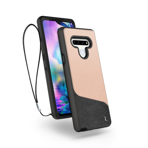 ZIZO DIVISION Series for LG Stylo 6 Case - Sleek Modern Protection - Saffiano Blush DVS-LGSTL6-SFBL