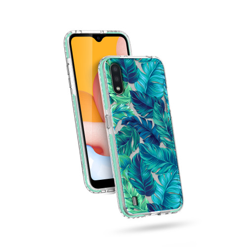 ZIZO DIVINE Series for Galaxy A01 Case - Thin Protective Cover - Tropical DIN-SAMGA01-TPL
