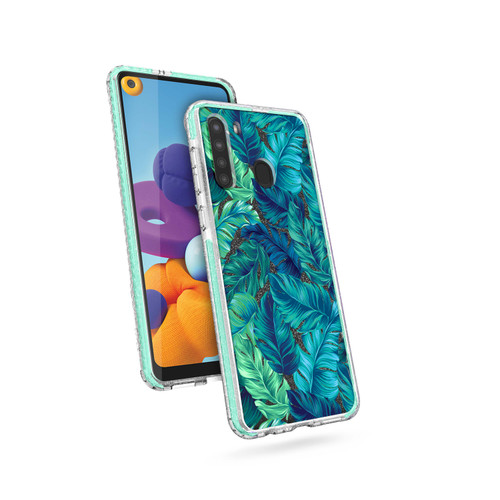 ZIZO DIVINE Series for Galaxy A21 Case - Thin Protective Cover - Tropical DIN-SAMGA21-TPL