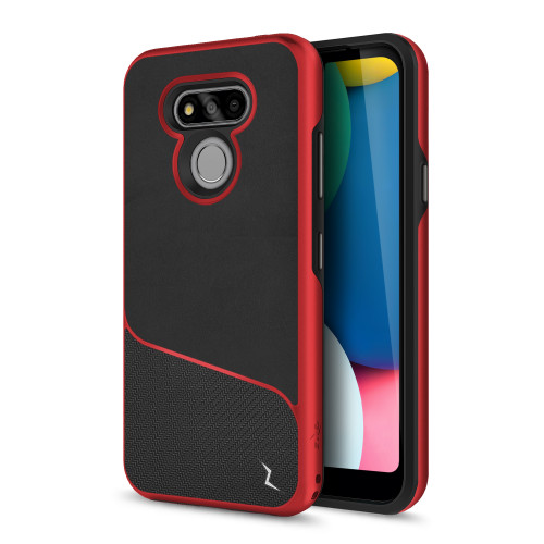 ZIZO DIVISION Series for LG Fortune 3 Case - Sleek Modern Protection - Black & Red DVS-LGFT3-BKRD