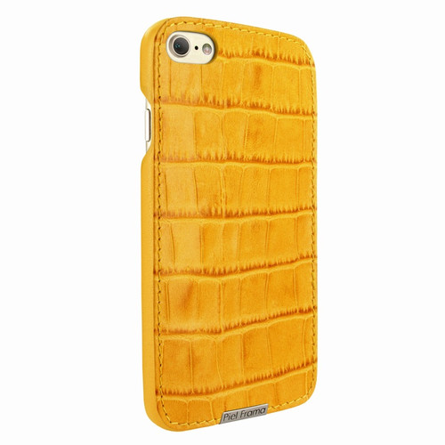 Piel Frama 763 Yellow Crocodile FramaSlimGrip Leather Case for Apple iPhone 7 / 8