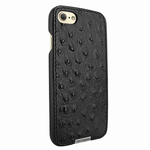 Piel Frama 763 Black Ostrich FramaSlimGrip Leather Case for Apple iPhone 7 / 8
