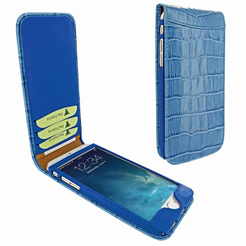 Piel Frama 766 Blue Crocodile Classic Magnetic Leather Case for Apple iPhone 7 Plus / 8 Plus