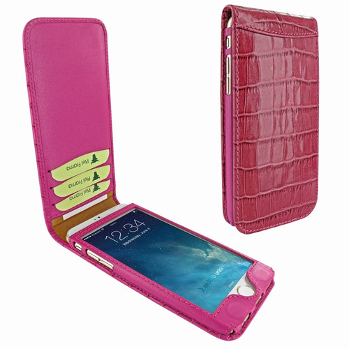 Piel Frama 766 Pink Crocodile Classic Magnetic Leather Case for Apple iPhone 7 Plus / 8 Plus