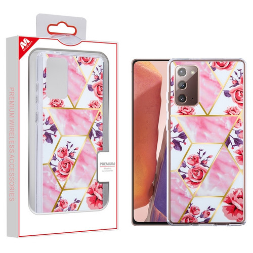 MyBat Fusion Protector Cover for Samsung Galaxy Note 20 - Electroplated Roses Marbling