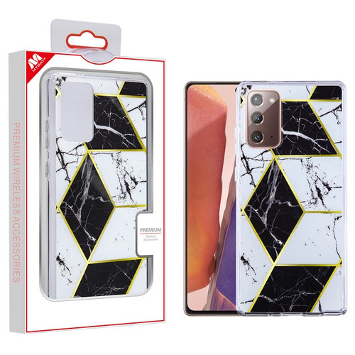 MyBat Fusion Protector Cover for Samsung Galaxy Note 20 - Electroplated Black Marbling