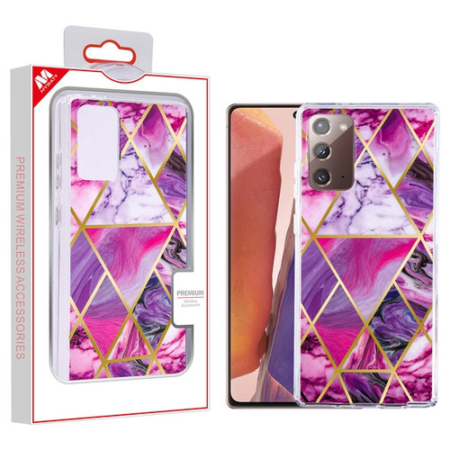 MyBat Fusion Protector Cover for Samsung Galaxy Note 20 - Electroplated Purple Marbling
