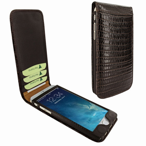 Piel Frama 766 Brown Lizard Classic Magnetic Leather Case for Apple iPhone 7 Plus / 8 Plus