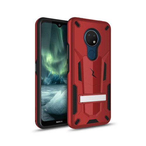 ZIZO TRANSFORM Series for Nokia C5 Endi Case - Rugged Dual-layer Protection with Kickstand - Red TFM-NOKC5-RDBK