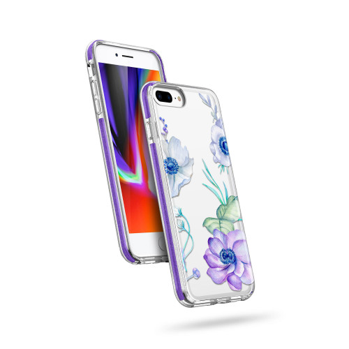 ZIZO DIVINE Series for iPhone 8 Plus / iPhone 7 Plus Case - Thin Protective Cover - Lilac DIN-IPH7PLUS-LIL