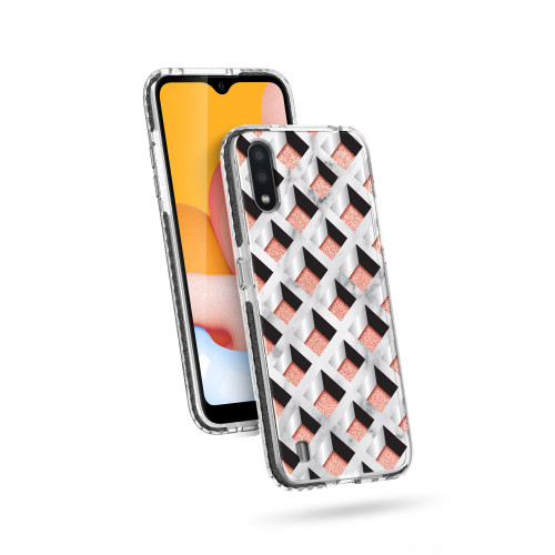 ZIZO DIVINE Series for Galaxy A01 Case - Thin Protective Cover - Geo DIN-SAMGA01-GEO