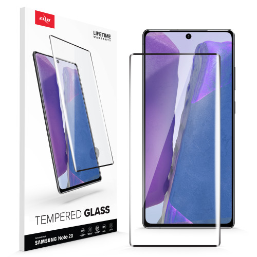 ZIZO Full Glass for Galaxy Note 20 - Tempered Glass Screen Protector Anti Scratch 9H Hardness - Black FLSHD-SAMGN20-BLK