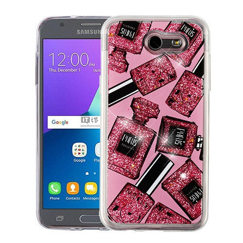 Airium Quicksand Glitter Hybrid Protector Cover for Samsung J327P (J3 2017) - Perfume and Polish & Pink