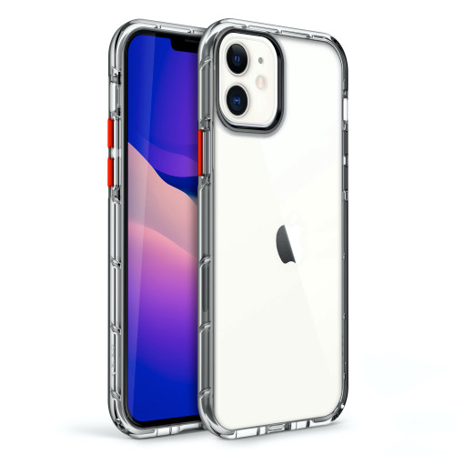 ZIZO SURGE Series for iPhone 12 / iPhone 12 Pro Case - Sleek Clear Case Customizable Buttons - Clear SUR-IPH1261-CL