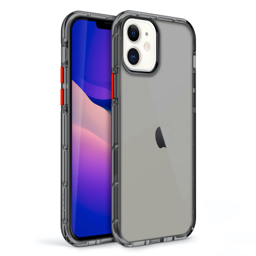 ZIZO SURGE Series for iPhone 12 / iPhone 12 Pro Case - Sleek Clear Case Customizable Buttons - Smoke SUR-IPH1261-SM