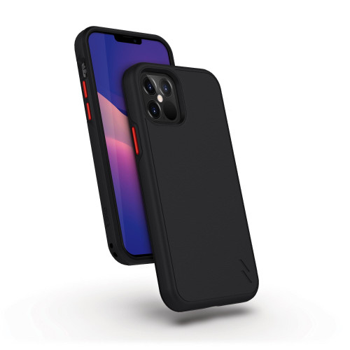 ZIZO DIVISION Series for iPhone 12 / iPhone 12 Pro Case - Sleek Modern Protection - Black DVS-IPH1261-BLK