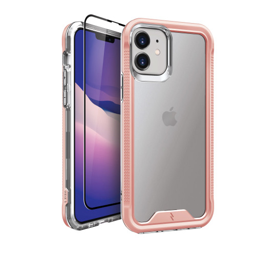 ZIZO ION Series for iPhone 12 / iPhone 12 Pro Case - Military Grade Drop Tested with Tempered Glass Screen Protector - Rose Gold IONC-IPH1261-RGDCL