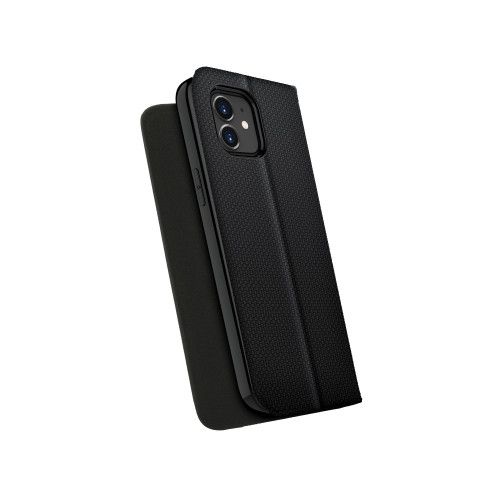 ZIZO WALLET Series for iPhone 12 / iPhone 12 Pro Case - Card Slot Kickstand Vegan Leather - Black WTPH-IPH1261-BKCV