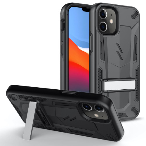 ZIZO TRANSFORM Series for iPhone 12 Mini Case - Rugged Dual-layer Protection with Kickstand - Black TFM-IPH1254-BKBK