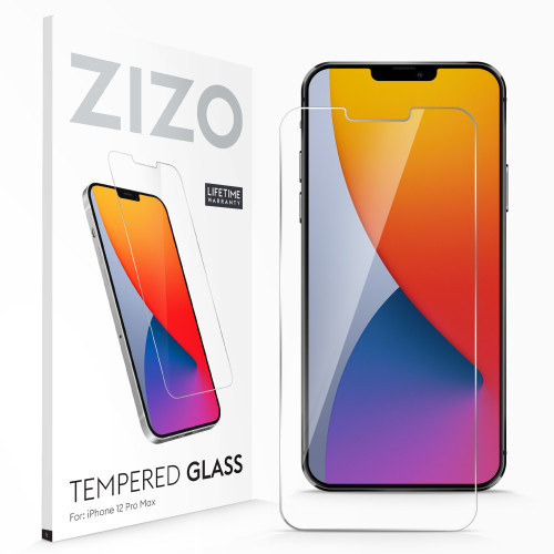 ZIZO TEMPERED GLASS Screen Protector for iPhone 12 Pro Max Clear Screen Protector with Anti Scratch and 9H Hardness - Clear LSHD-IPH1267-CL