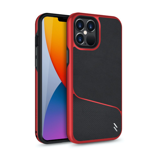 ZIZO DIVISION Series for iPhone 12 Pro Max Case - Sleek Modern Protection - Black & Red DVS-IPH1267-BKRD