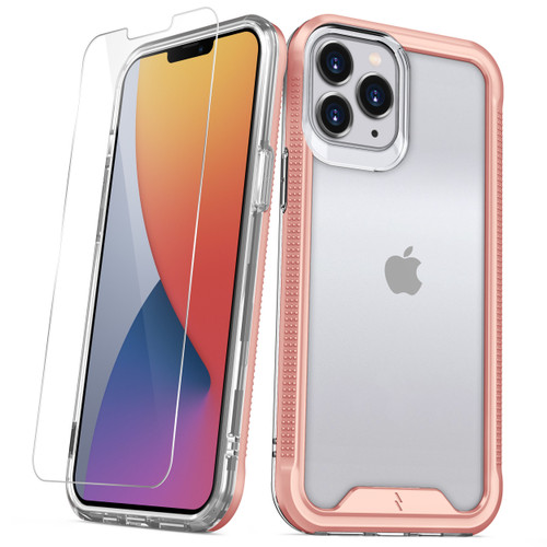 ZIZO ION Series for iPhone 12 Pro Max Case - Military Grade Drop Tested with Tempered Glass Screen Protector - Rose Gold IONC-IPH1267-RGDCL