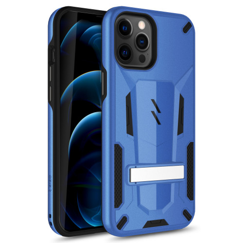 ZIZO TRANSFORM Series for iPhone 12 Pro Max Case - Rugged Dual-layer Protection with Kickstand - Blue TFM-IPH1267-BLBK