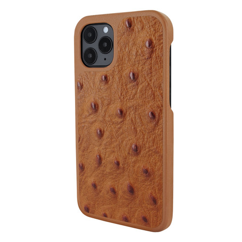 Piel Frama 851 Tan Ostrich LuxInlay Leather Case for Apple iPhone 12 / iPhone 12 Pro