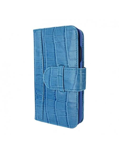 Piel Frama 854 Blue Crocodile WalletMagnum Leather Case for Apple iPhone 12 / iPhone 12 Pro