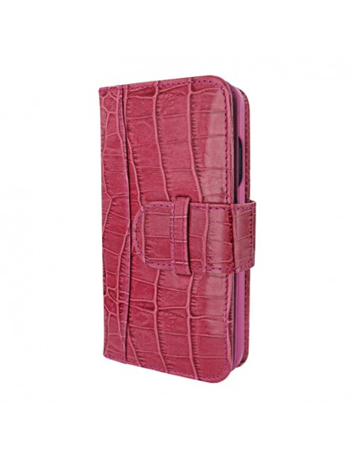 Piel Frama 854 Pink Crocodile WalletMagnum Leather Case for Apple iPhone 12 / iPhone 12 Pro