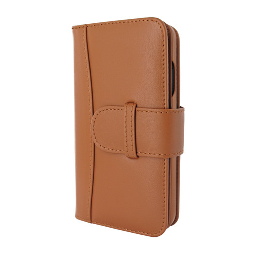 Piel Frama 854 Tan WalletMagnum Leather Case for Apple iPhone 12 / iPhone 12 Pro