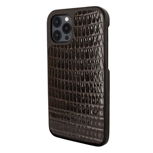 Piel Frama 856 Brown Lizard LuxInlay Leather Case for Apple iPhone 12 Pro Max