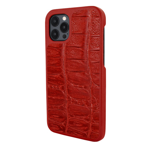 Piel Frama 856 Red Wild Crocodile LuxInlay Leather Case for Apple iPhone 12 Pro Max