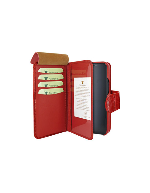 Piel Frama 859 Red Crocodile WalletMagnum Leather Case for Apple iPhone 12 Pro Max