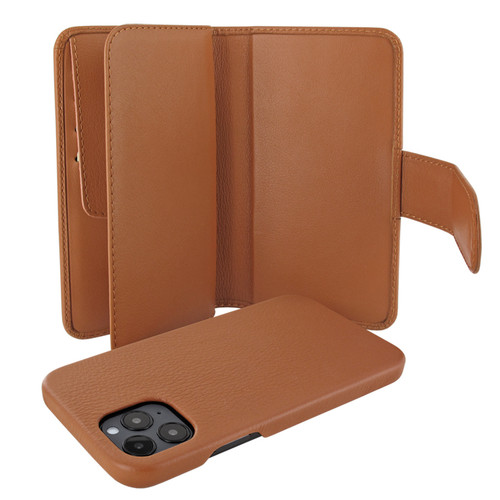 Piel Frama 859 Tan WalletMagnum Leather Case for Apple iPhone 12 Pro Max