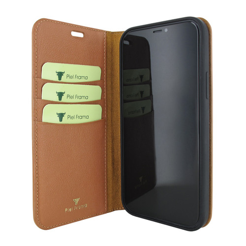 Piel Frama 860 Tan FramaSlimCards Leather Case for Apple iPhone 12 Pro Max