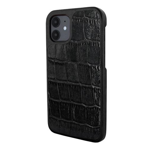 Piel Frama 861 Black Crocodile LuxInlay Leather Case for Apple iPhone 12 mini
