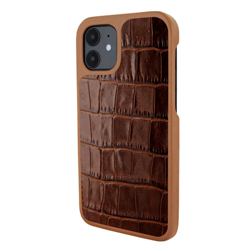 Piel Frama 861 Brown Crocodile LuxInlay Leather Case for Apple iPhone 12 mini