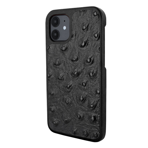 Piel Frama 861 Black Ostrich LuxInlay Leather Case for Apple iPhone 12 mini