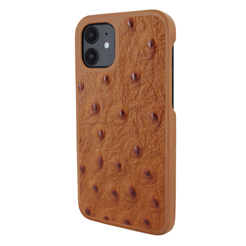 Piel Frama 861 Tan Ostrich LuxInlay Leather Case for Apple iPhone 12 mini