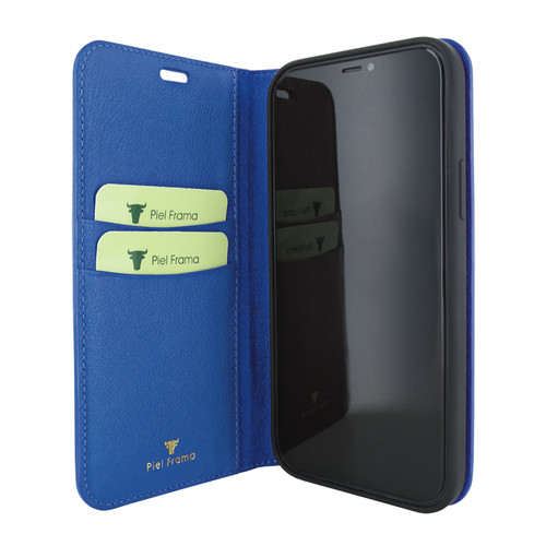 Piel Frama 865 Blue FramaSlimCards Leather Case for Apple iPhone 12 mini