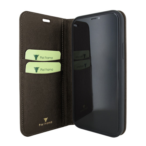 Piel Frama 865 Brown FramaSlimCards Leather Case for Apple iPhone 12 mini