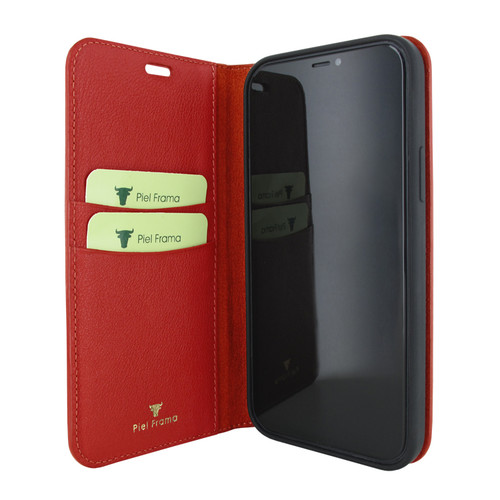 Piel Frama 865 Red FramaSlimCards Leather Case for Apple iPhone 12 mini